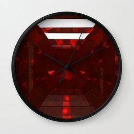 January Babies  Garnet Cut Gemstone Wall Clock