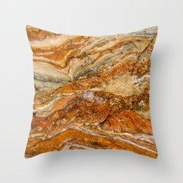 Orange Rock Texture Throw Pillow