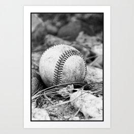 Foul Ball Art Print