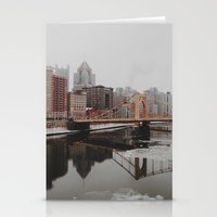 pittsburgh Stationery Cards featuring Pittsburgh, PA by Chase Hunter