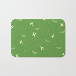 Pisces Pattern - Green Bath Mat
