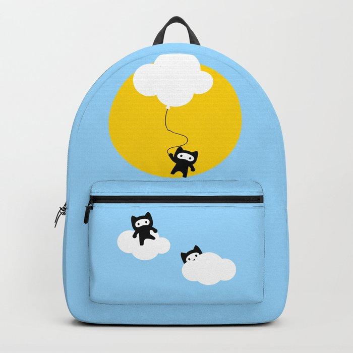 Ninja cats in the sky Backpack