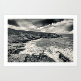 Donegal rocky coast  (RR48) Art Print
