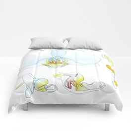 Orchid Dissection Comforters