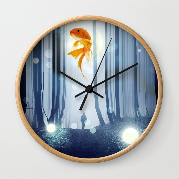 Goldfish Dreaming Wall Clock