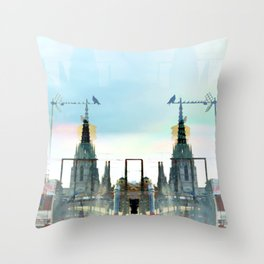 Please excuse rudimentary coo humming; exit stage. Throw Pillow