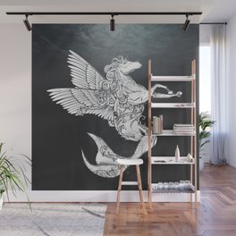 Horse with fishtail and wings Wall Mural