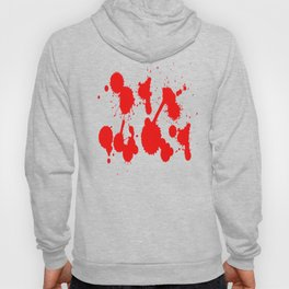 blood stains splatter on black Hoody