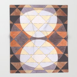 Triangles and Circles Pattern no.24 Throw Blanket