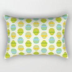 Kawaii Easter Eggs Rectangular Pillow