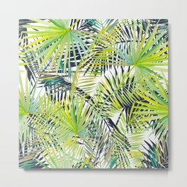 Tropical Frond Pattern Metal Print