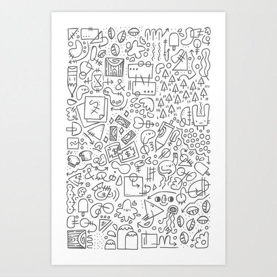 Doodle Do Art Print