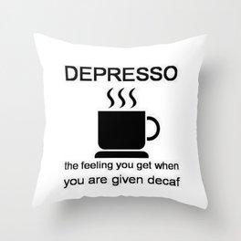 Depresso Throw Pillow