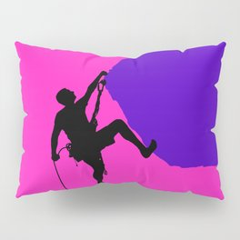 Climbing in sunset Pillow Sham