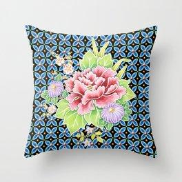 Brocade Bouquet Throw Pillow