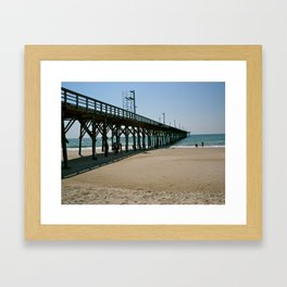 Down by the Pier Framed Art Print