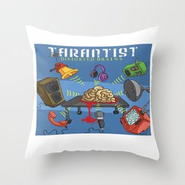 Distorted Brains Cover Throw Pillow