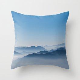 Foggy Mountains Throw Pillow