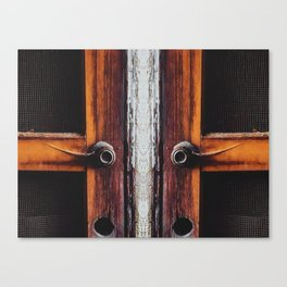 two old brown doors texture background Canvas Print