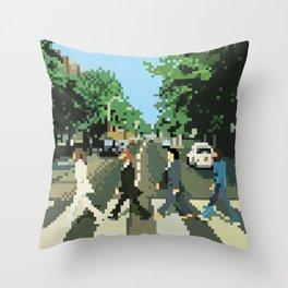 Pixel Abbey Road Throw Pillow