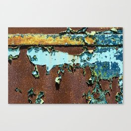 Old Metal Door Canvas Print