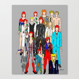 Heroes Doodle Canvas Print