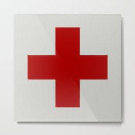 Remember Red Cross Metal Print
