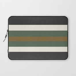 Grey Green and Gold Bold Str Laptop Sleeve