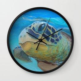 Sea Turtle Cameo Wall Clock