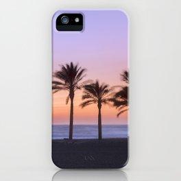 Serenity beach. Palms at the beach. iPhone Case