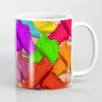 shoes Mugs featuring shoes by ErsanYagiz