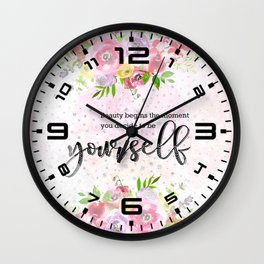 To be yourself Wall Clock
