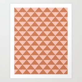 Triangular Lines in Terracotta and Blush Art Print