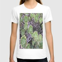 succulents T-shirts featuring Succulents by AM Prono