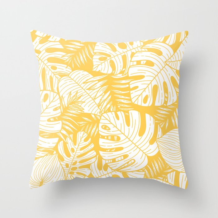 Tropical Leaves On Yellow Throw Pillow By Magic Dreams Society6 If your tropical hibiscus has a few yellow leaves here and there, it's nothing to worry about, as the plants regularly renew their. tropical leaves on yellow throw pillow by magic dreams