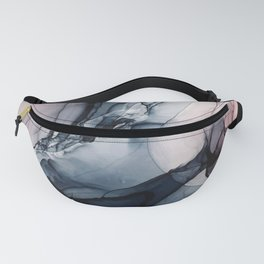 Blush, Navy and Gray Abstract Calm Clouds Fanny Pack