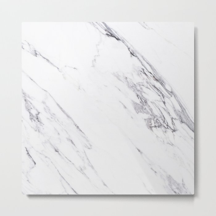 Marble - Classic Real Marble Metal Print
