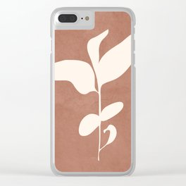 Little Leaves II Clear iPhone Case
