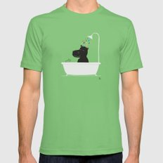 The Happy Shower LARGE Mens Fitted Tee Grass