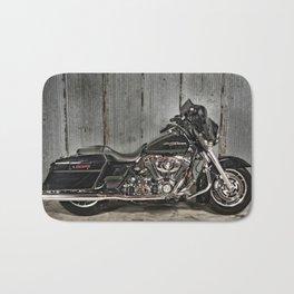 Black Harley Street Glide Bath Mat