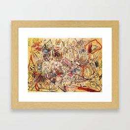 Experimental Rush Framed Art Print