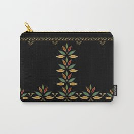 """Tree of Polka Dots Leaves (Black)"" Carry-All Pouch"