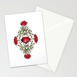 Birth Stone & Flower Print/JANUARY Stationery Cards