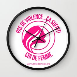 Cri de Femme Cadeaux Wall Clock