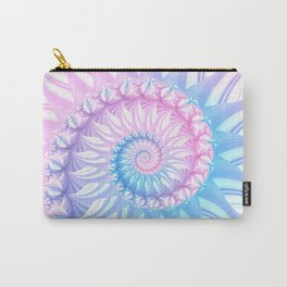 Striped Pastel Spiral in Pink, Blue and Purple Carry-All Pouch