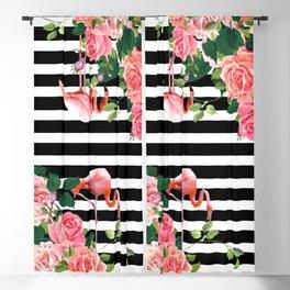 tropical flamingo Blackout Curtain