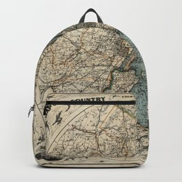 Map of Upstate New York 1891 Backpack