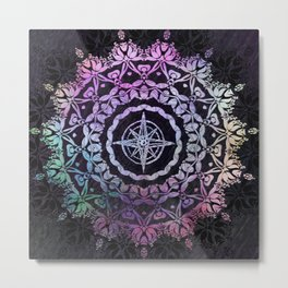 Dark Destination Mandala Metal Print