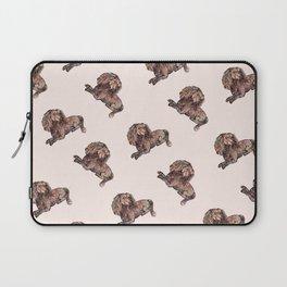 Dog Pattern 2 on Girly Pink Laptop Sleeve