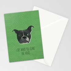 Boston Terrier Print Stationery Cards